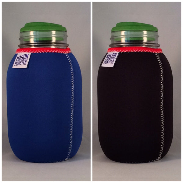 Eco Insulator™ - Quart - Reversible (Blue / Black with Red Binding & White Stitching)