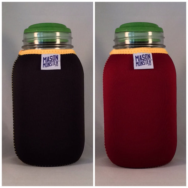 Eco Insulator™ - Quart - Reversible (Black / Burgundy with Gold Binding & Stitching)