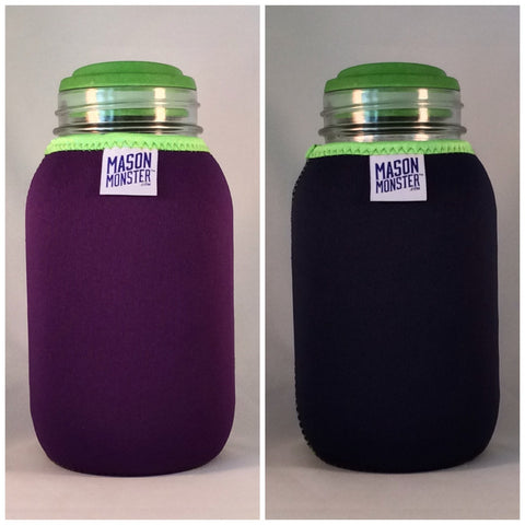 Eco Insulator™ - Quart - Reversible (Purple / Blue with Lime Green Binding & Stitching)