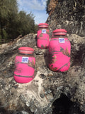Eco Insulator™ - Jelly Jar- Reversible (Pink & Blue CAMO with Brown Binding & Stitching)