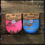 Eco Insulator™ - Pint- Reversible (Pink & Blue CAMO with Brown Binding & Stitching)