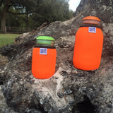 Eco Insulator™ - Pint - Reversible (Blaze Orange/ Lime Green with Black Binding & Stitching)