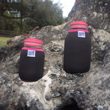 Eco Insulator™ - Pint - Reversible (Black / Purple with Hot Pink Binding & Stitching)