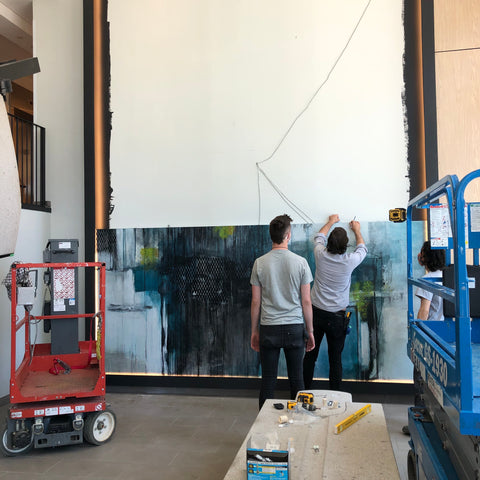 installing the commission painting