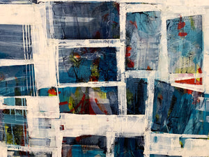 Show's Over 48x60 inches  abstract art for sale