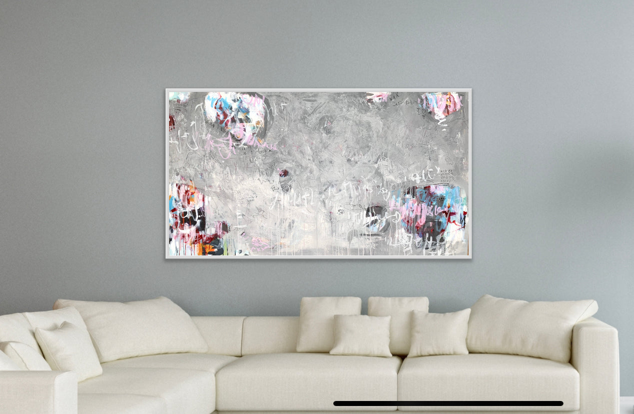 Sky Writer | 38x68 | Abstract Art Toronto