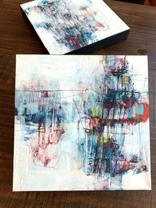 Fine Art Abstract Painting Local Artist Lori Mirabelli