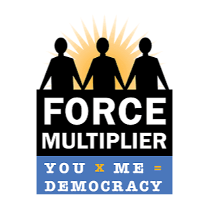 Force Multiplier you me democracy logo
