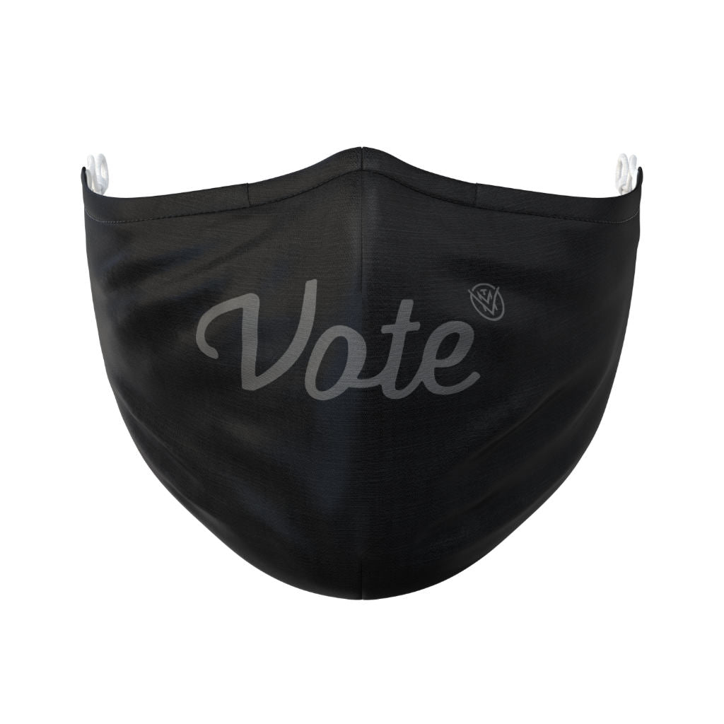 The Vote Mask ink front view