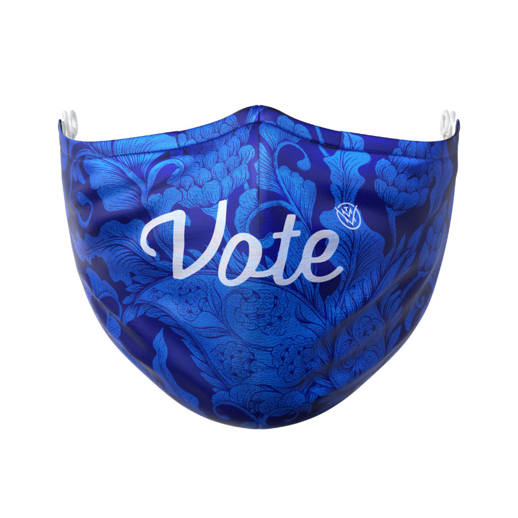 The Vote Mask true blue front view