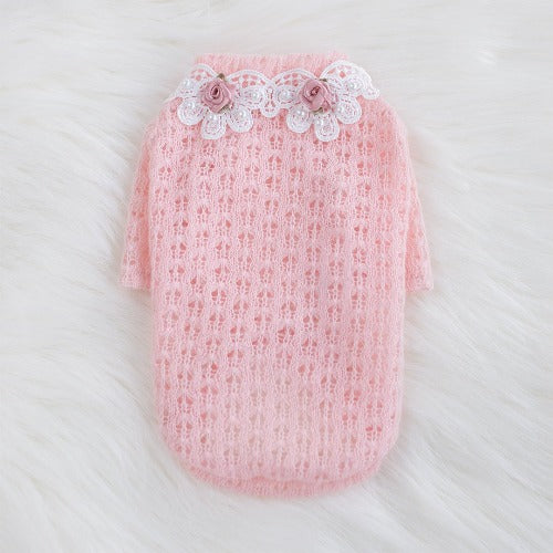 Baby Rose Dog Sweater