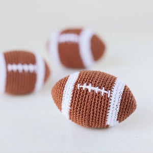 Crochet Football Dog Toy