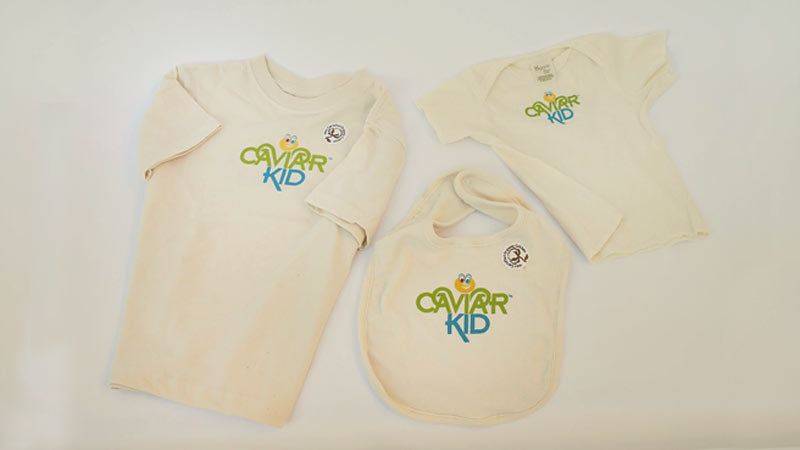 Caviar Kid™ Bib and T-Shirts