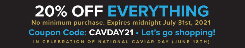 20% off everything store-wide. Use Coupon Code CAVDAY21. Expires July 31, 2021