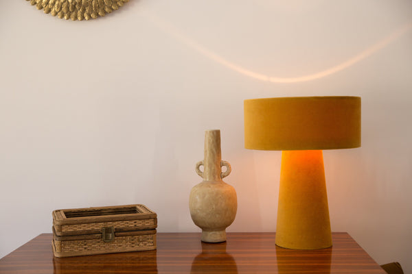 lampe de table en velours