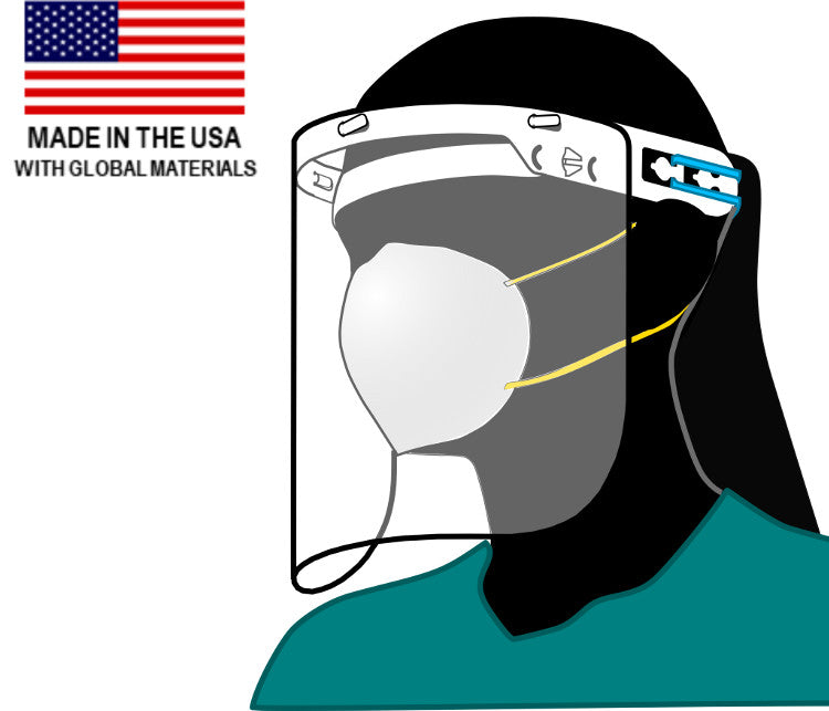 (10 Pack) CoResearch Face Shield