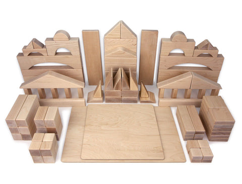 98 pc. Deluxe Set Maple Building Blocks - FREE Shipping
