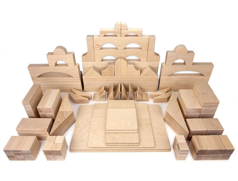 133 pc. Advanced Set Maple Building Blocks - FREE Shipping