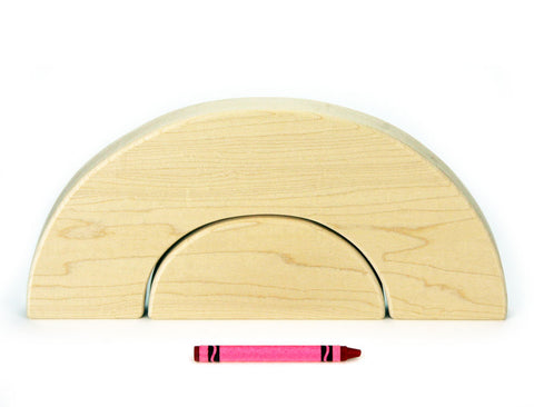 Flat 8x4 (1/2 thickness) Large Arch and Half Circle Building Blocks