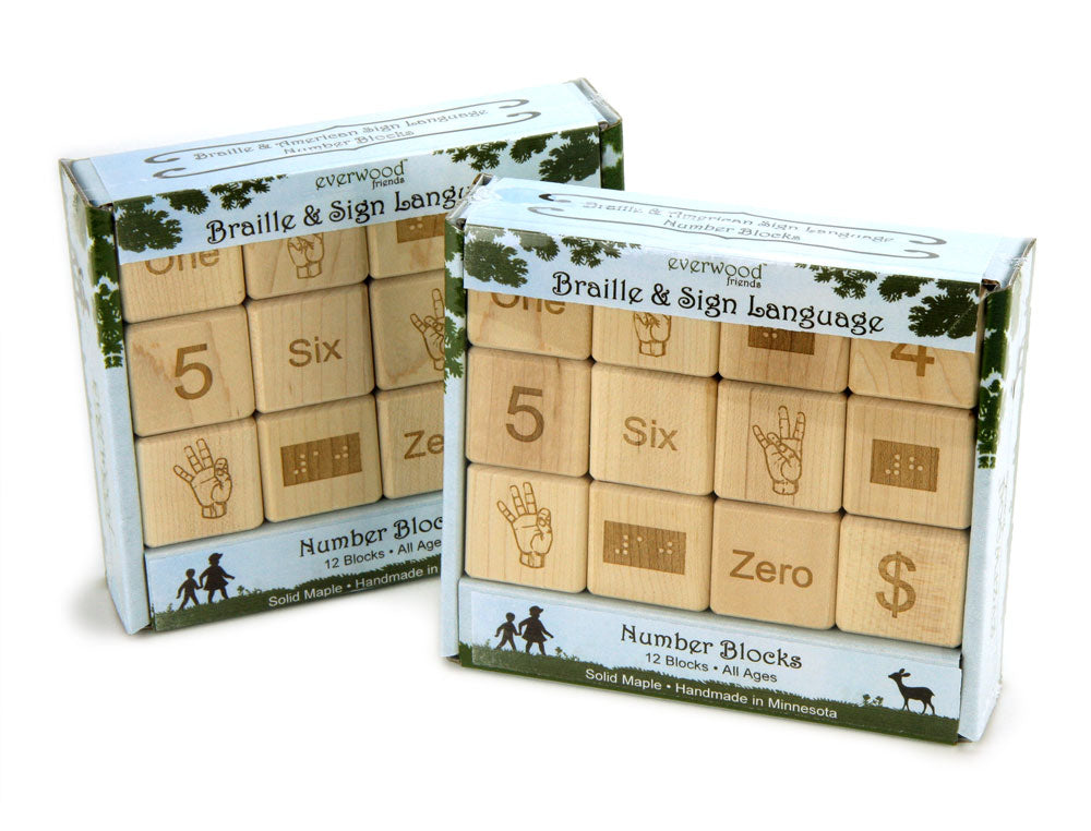 Classroom Double Set: Braille-Sign Language-Number Blocks - FREE Shipping