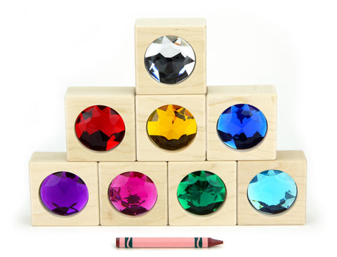 8 pc. Bright Large Gem Blocks - FREE Shipping