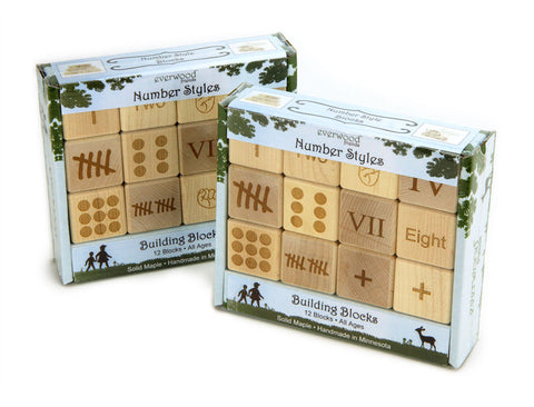 Classroom Double Set: Number Style Blocks - FREE Shipping