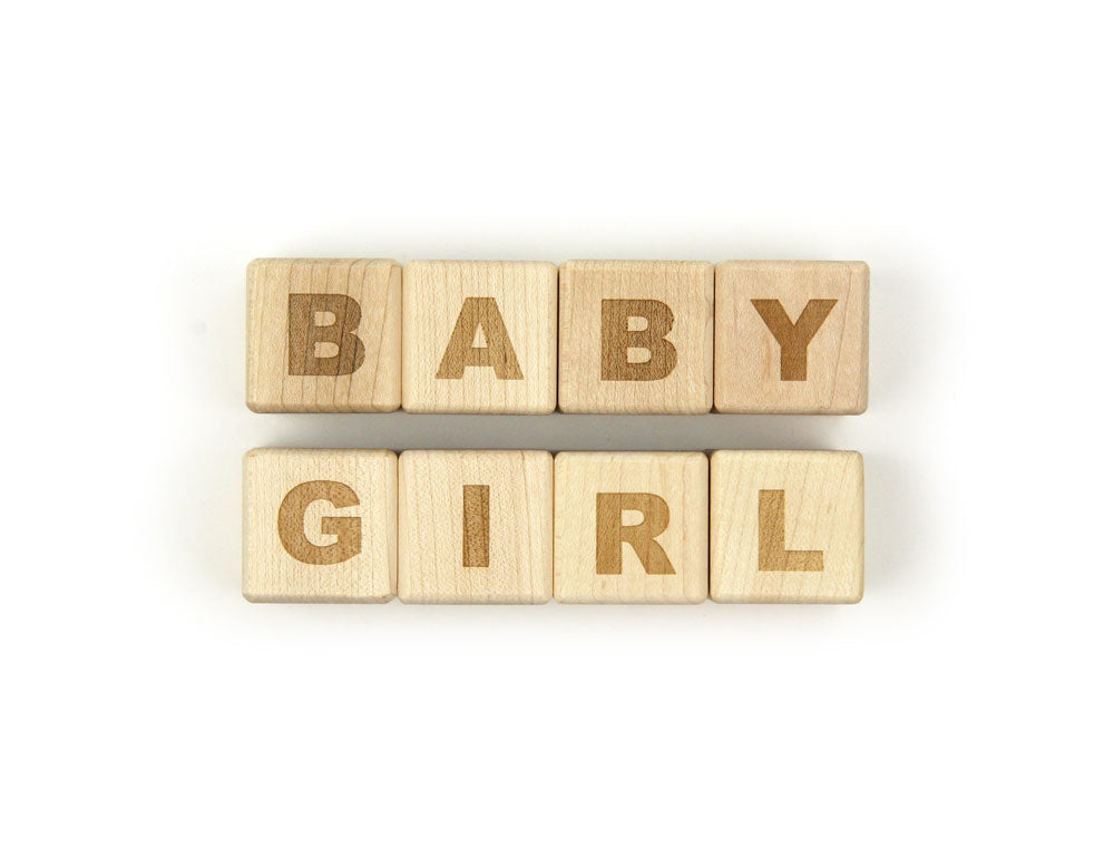 BABY GIRL Message Blocks - FREE Shipping