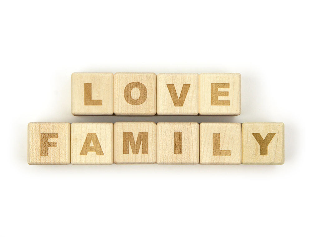 LOVE FAMILY Message Blocks - FREE Shipping