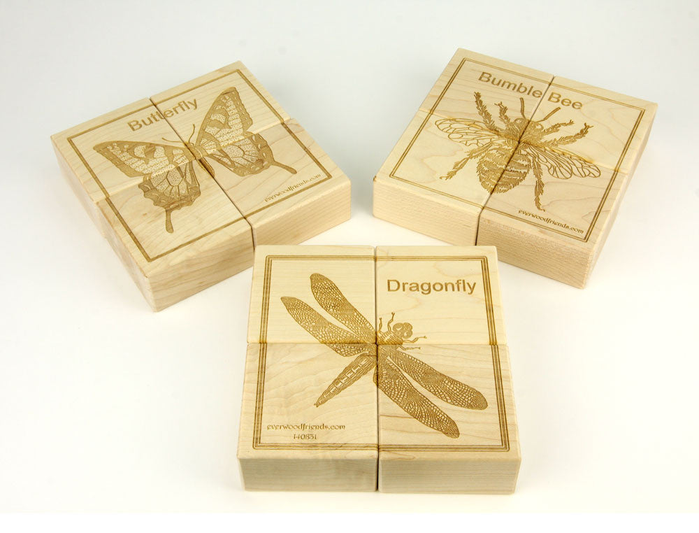 Bugs Jumbo Wooden Puzzle Blocks - 12 pc Set - FREE Shipping