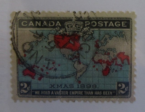 The World's First Christmas Stamp Canada Postage Xmas 1898