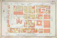 Goad Map of Toronto 1910 Plate 9 - Simcoe St. to Yonge St.