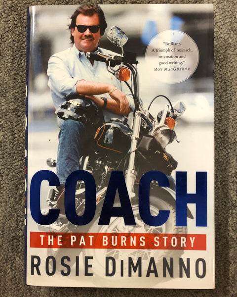 Hardcover Hockey Book on Coach Pat Burns