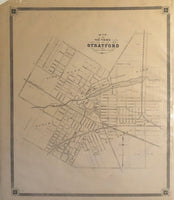1879 Antique Map of the Town of Stratford [Perth County, Southwestern Ontario]