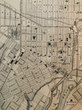 Close up of 1879 Map of Brantford