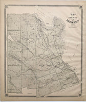 Antique Map of The County of Renfew 1879