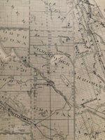 Close up on the 1879 Antique Map of The County of Renfew