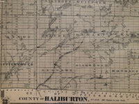 Antique Map of The County of Haliburton 1879
