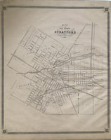 1879 Map of Stratford, Ontario, Canada