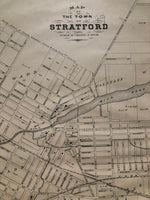 1879 Map of the Town of Stratford