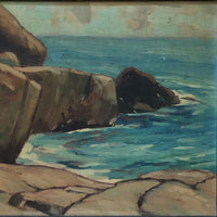 close up of oil painting [Rocky Shore]