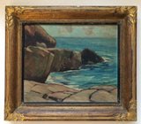 George Henry Griffin (1898 - 1974) [Rocky Shore] Canadian Oil Painting
