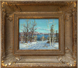 Otto Planding (1887-1964) Haliburton Lake, Winter Original Oil Painting