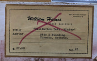 Original William Haines Picture Gallery Label and Painting Title