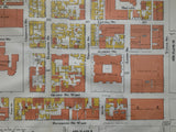 Close up of Downtown Toronto Plate 9 Goad Map of Toronto 1910