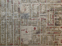 close up of 1890 Goad Map of Toronto Plate 23