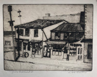 "Canadian Artist William Frederick George Godfrey Etching ""York & Richmond St."" signed & titled."
