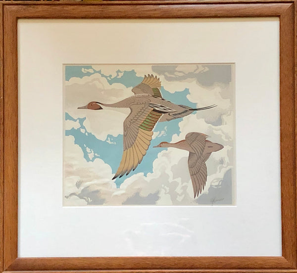 Alfred Joseph Casson [Canadian, 1898-1992] Flying Geese Silkscreen