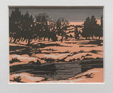 Albert FRANCK Don Valley Linocut Print