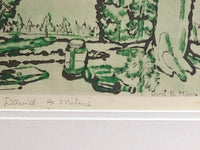 David B. Milne signed in pencil and in the plate