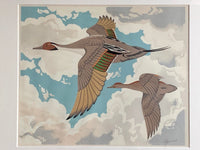 Close up of Alfred Joseph Casson's silkscreen of Flying Geese